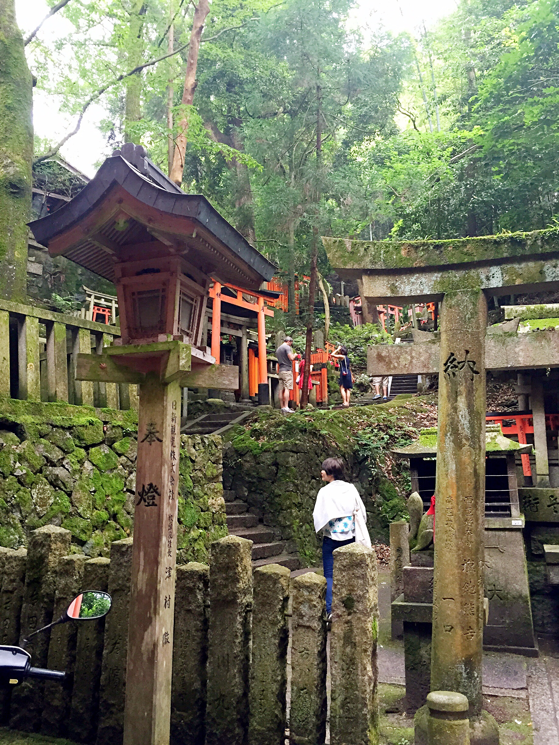 Small shrines high up in the mountain